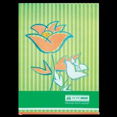 """Книга обліку """"Квіти"""" 80 арк., А4, помаранчевий ВМ. 2300-611"""