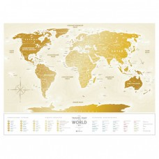 Travel Map Gold World (Ru)
