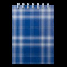 """Блокнот на пружині зверху, А-7, 48л., """"Shotlandka"""", синій, клітинка, картонна обкладинка,ВМ. 2490-02"""