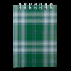 """Блокнот на пружині зверху, А-7, 48л., """"Shotlandka"""", зелений, клітинка, картонна обкл, ВМ. 2490-04"""