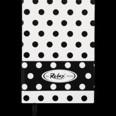 Блокнот діловий RELAX А5, 96 арк, чистий, обкладинка штучна шкіра, білий, ВМ. 295001-12