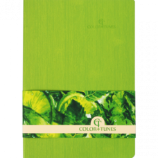 Блокнот діловий COLOR TUNES А5, 96 арк, чистий, обкладинка штучна шкіра, салатовий, ВМ. 295000-15