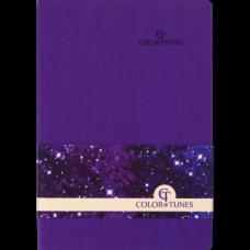 Блокнот діловий COLOR TUNES А5, 96 арк, чистий, обкладинка штучна шкіра, фіолетовий, ВМ. 295000-07
