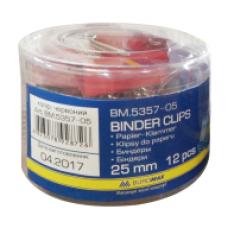Бiндер 25мм, червоний, ВМ. 5357-05