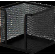 Бокс для паперу 100х100x100мм, металевий, чорний, ВМ. 6215-01