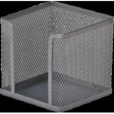 Бокс для паперу 100х100x100мм, металевий, срібло, ВМ. 6215-24