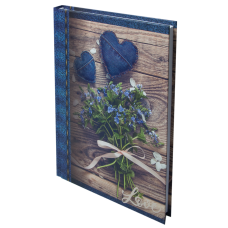 Щоденник недатований ROMANTIC, A5, 288 стр. темно-синій BM.2040-03