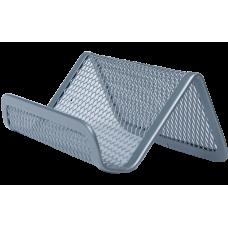 Підставка для візиток 95x80x45мм, металева, срібло BM.6225-24