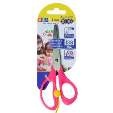 Ножиці дитячі 138мм з повортним механізмом, рожевий, BABY Line, ZB. 5017-10