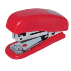 Степлер пластиковий Міні до 10арк. (скоби №10), червоний, ВМ. 4125-05