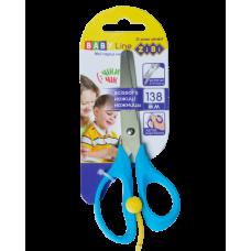 Ножиці дитячі 138мм з поворотним механізмом, синій, BABY Line, ZB. 5017-02