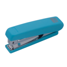 Степлер пластиковий RUBBER TOUCH до 12арк.(скоби №10), голубий, ВМ. 4128-14