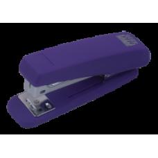 Степлер пластиковий RUBBER TOUCH до 20арк., (скоби №24; 26), фіолетовий, ВМ. 4205-07