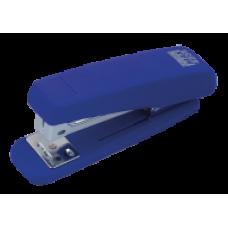 Степлер пластиковий RUBBER TOUCH до 20арк., (скоби №24; 26),синій, ВМ. 4205-02