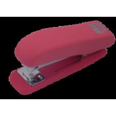 Степлер пластиковий RUBBER TOUCH до 20арк., рожевий, ВМ. 4202-10