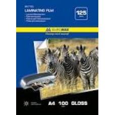 Плівка для ламінування 125мкм, A4 (216x303мм), 100 шт., ВМ. 7725