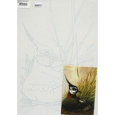 Полотно на картоні з контуром Птахи №3 25*35 бавовна GPA283403 Етюд