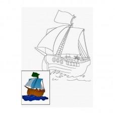 Полотно на картоні з контуром, Мультфільм №14, 25*35 бавовна GPA283114 Етюд