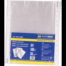 Файл для докум. А4+, 30мкм, JOBMAX, 100шт. BM.3800