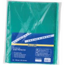 Файл для документів А4, 40мкм, PROFESSIONAL, 100шт, зелений BM.3810-04