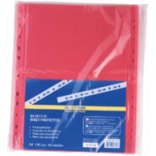 Файл для документів А4, 40мкм, PROFESSIONAL, 100шт, червоний BM.3810-05