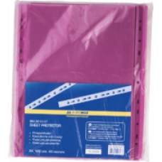 Файл для документів А4, 40мкм, PROFESSIONAL, 100шт, фіолетовий BM.3810-07