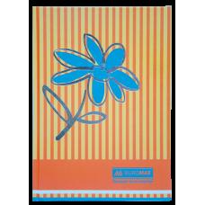 """Книга обліку """"Квіти"""" 80 арк., А4,помаранчевий ВМ.2300-611"""